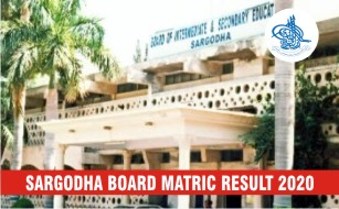 BISE Sargodha Board Matric Result 2020