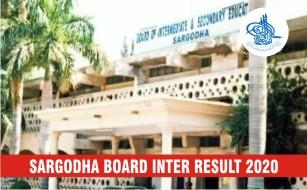 BISE Sargodha Board Inter Result 2020