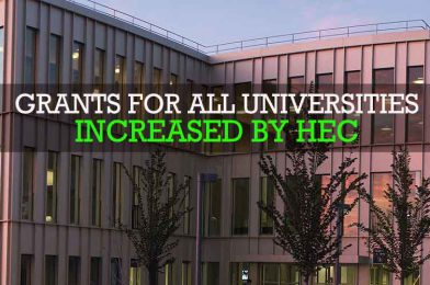 Grant for all universities increased by HEC