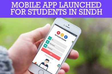 Mobile App launched for students in Sindh
