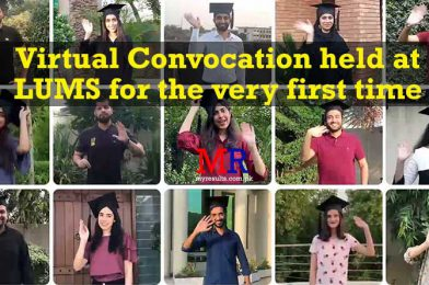 Virtual Convocation held at LUMS for the very first time