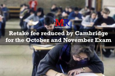 Retake fee reduced by Cambridge for the October and November Exam