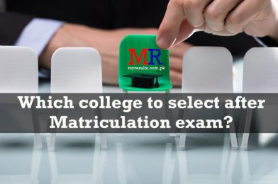 Which college to select after Matriculation exam?